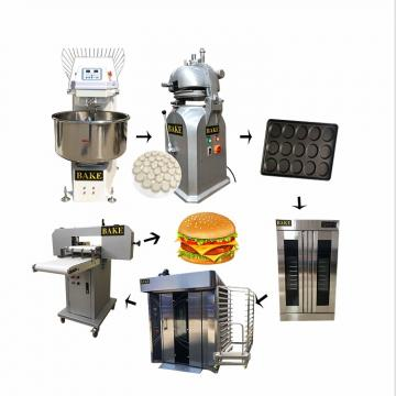 Electric Full Automatic Hamburger Cake Bun Bread Machine Production Line
